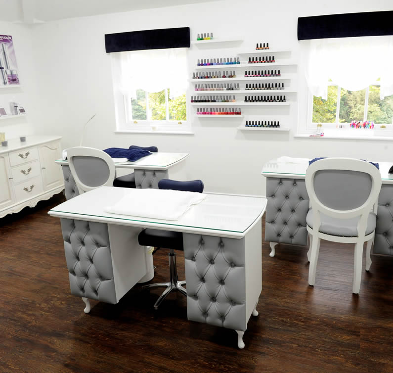 Hands and feet beauty salon in north ferriby east yorkshire for Unique manicure tables